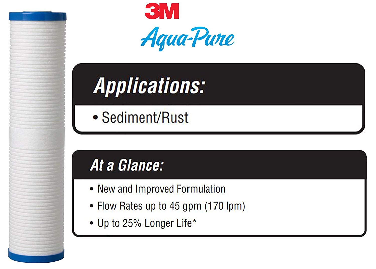 3M AquaPure AP810-2 Whole House Replacement Water Filter