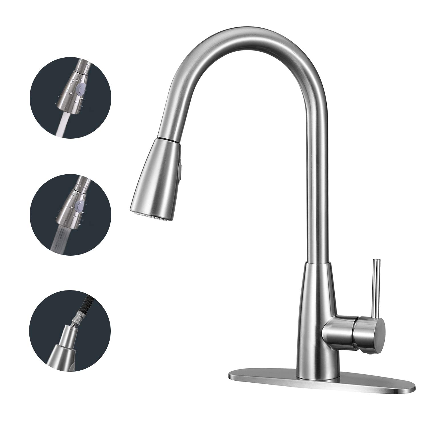 ANZA Kitchen Faucet Single Handle High Arc Faucet